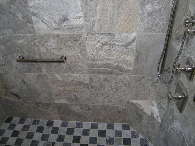 silver bathroom tiles silver travertine tiles modern bathroom tampa by 14408
