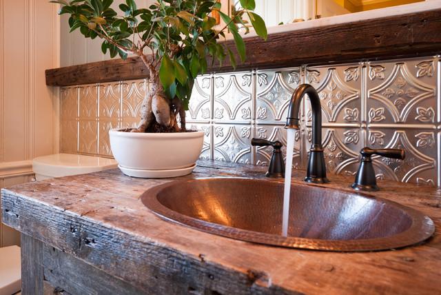 Silver Wainscot En Suite Farmhouse Bathroom Tampa