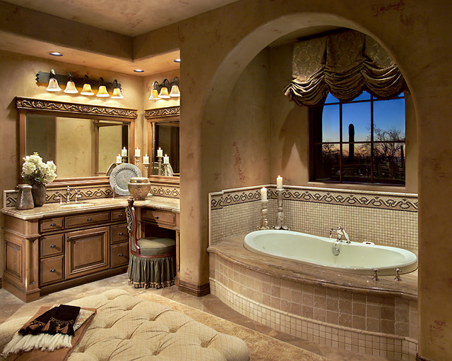 Mediterranean Style Luxury Bathrooms: Silverleaf Mediterranean