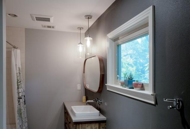 Simple bathroom design modern bathroom austin by on time baths Simple natural bathroom design