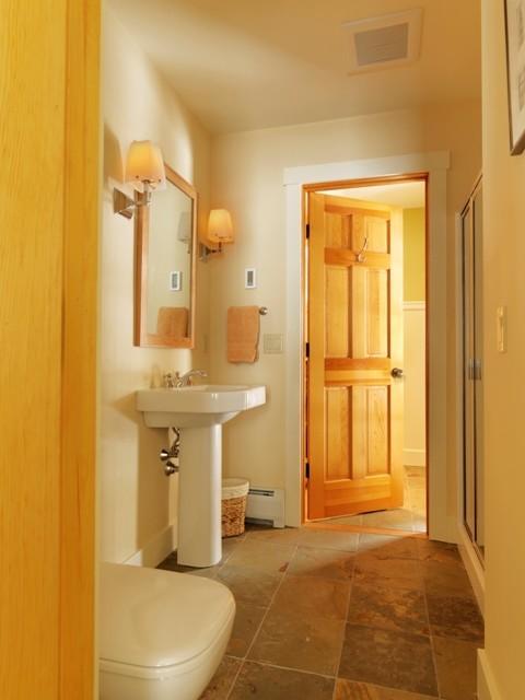Simple guest bathroom contemporary bathroom for Modern guest bathroom