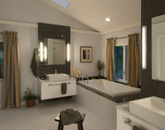 Simple Lines and Peaceful Space eclectic-bathroom