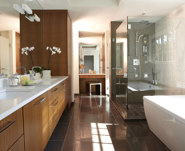 simplistic galley contemporary bathroom other by