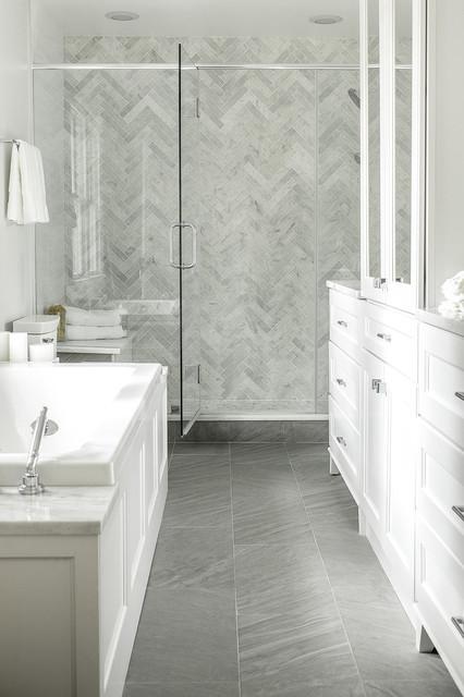 Simply Modern Home - Moderno - Stanza da Bagno - New York - di Karen B Wolf Interiors, Associate ...