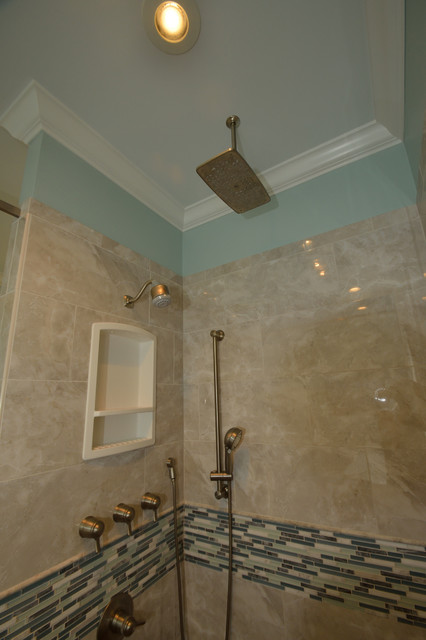 Wilson Mosaic Wrap Around Bathroom Remodel Transitional