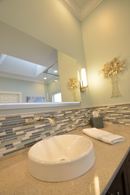 Simpsonville Mosaic Wrap Around Bathroom Remodel Transitional Bathroom Louisville By