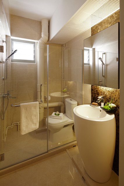 Singapore are you modern day 39 s queen v hdb exec for Small bathroom ideas hdb