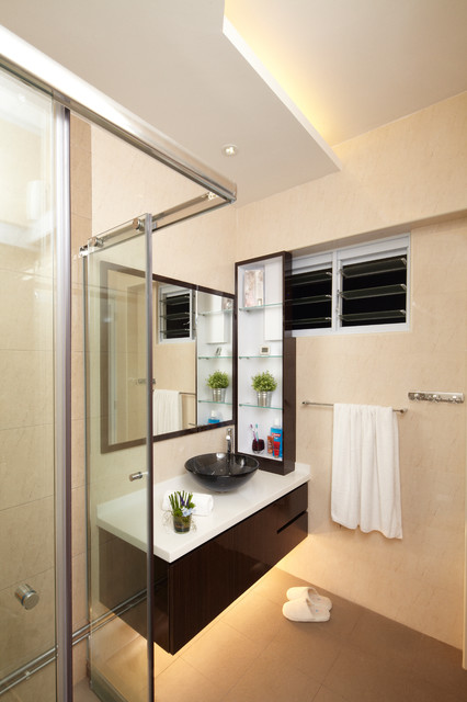 Singapore Modern Zen Geomancy Hdb Exec Maisonette Asian Bathroom Singapore By