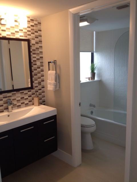 Singer Island contemporary-bathroom