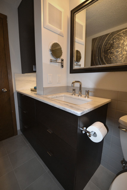 Sink Vanity With Swing Out Mirror Modern Bathroom