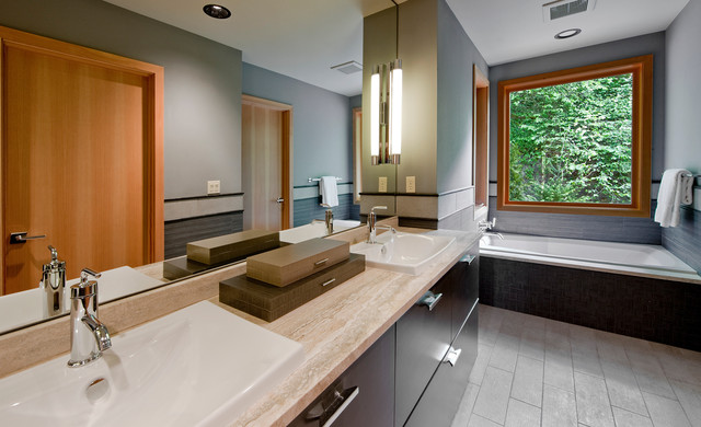 Six Walls NW Territorial Stunner contemporary bathroom