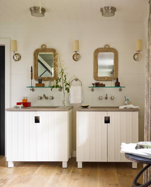 Skaneateles Lake House Beach Style Bathroom New York