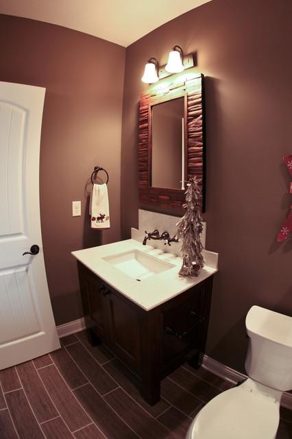 Ski lodge themed bathroom rustic bathroom dublin for Bathroom ideas dublin