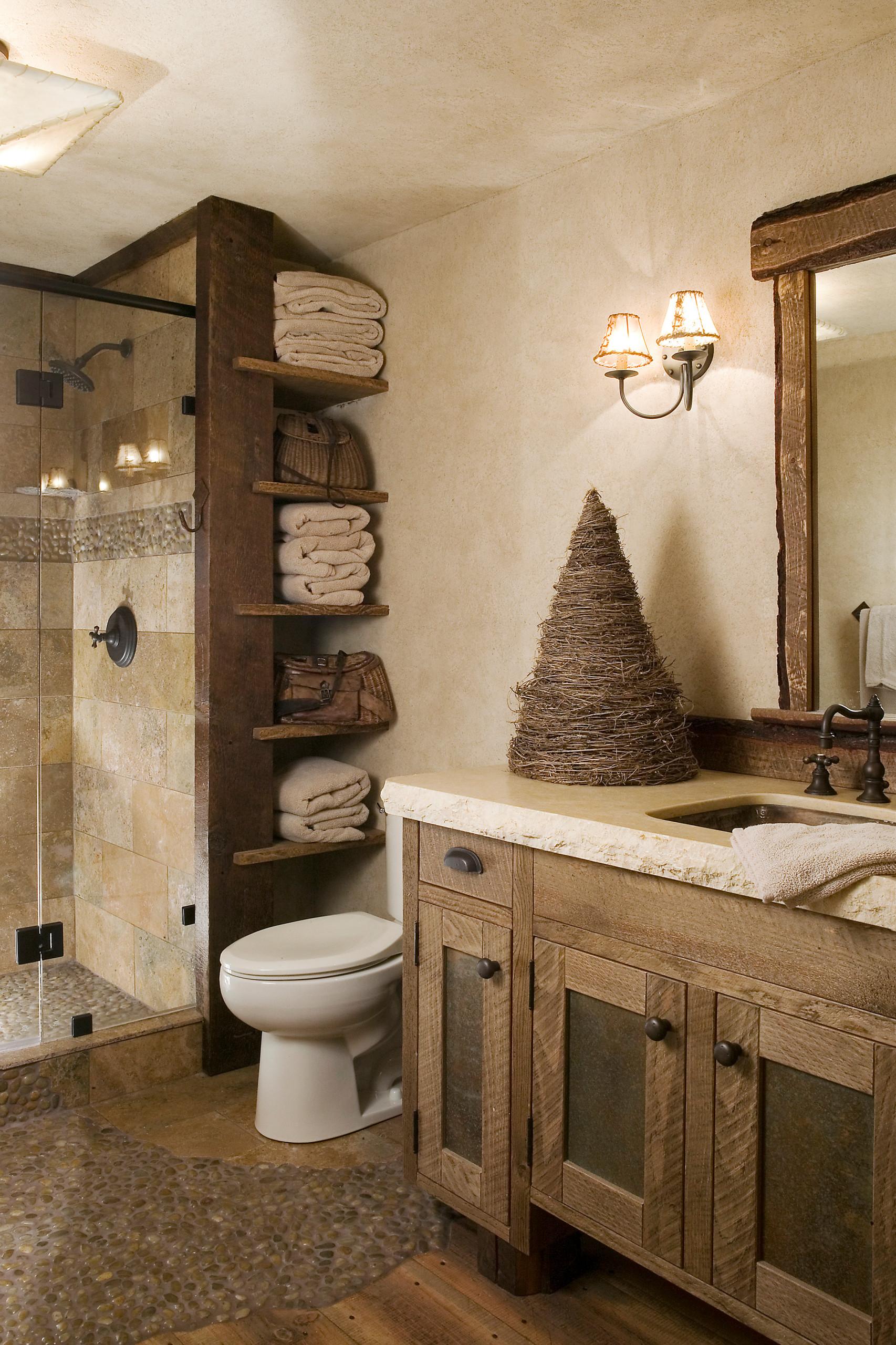 75 Beautiful Rustic Bathroom Design Ideas Pictures Houzz