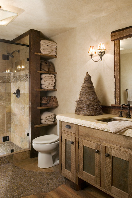 rustic tiles for bathroom. Ski Slope Rustic Bathroom