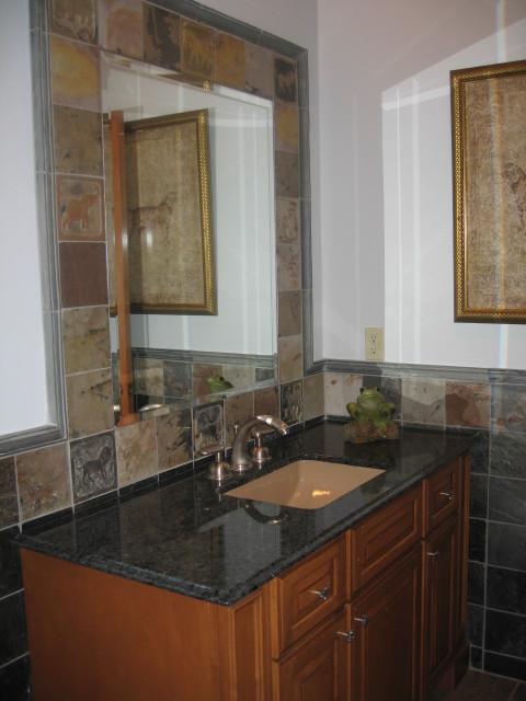 New Slate Bathroom: By Toni Sabatino
