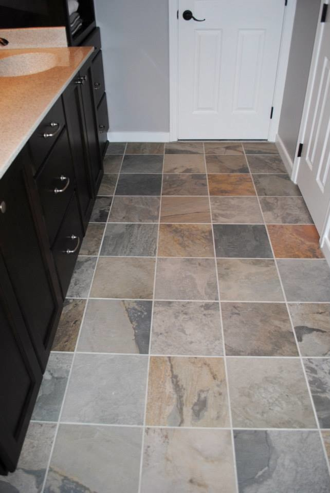 Slate Gray Porcelain Tile Whtie Subway