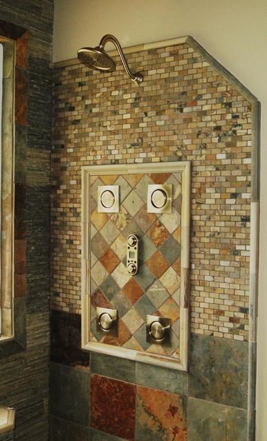 Slate, River Rock Bathroom eclectic-bathroom