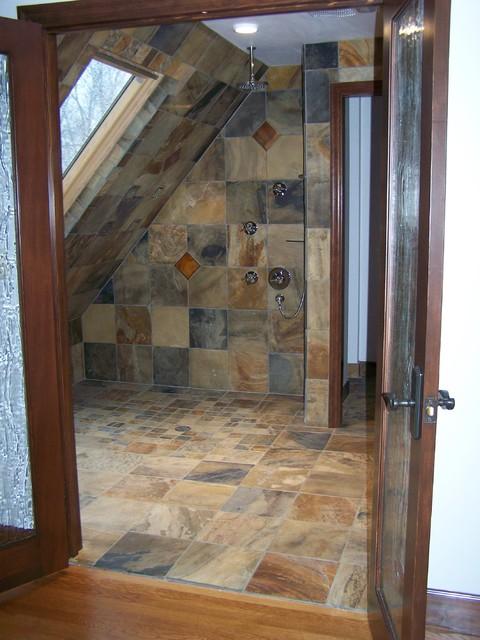 Slate Shower Traditional Bathroom Portland By Andy