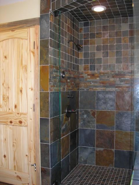 Slate Tile Shower Traditional Bathroom Sacramento By