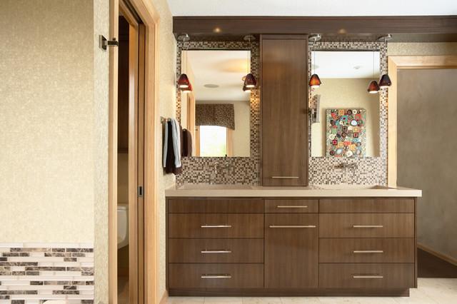 Brilliant Contemporary Master Bathroom Vanity Contemporary Master Bathroom With