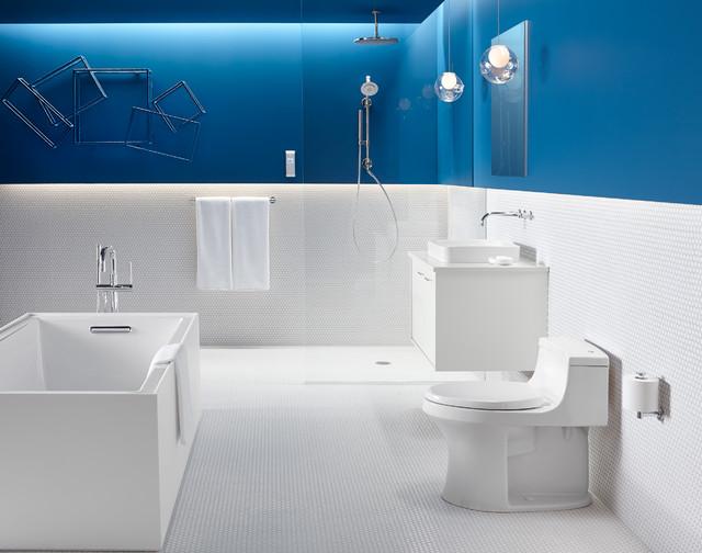 Sleek & Sanitary Bathroom - Contemporary - Bathroom - Milwaukee - by ...