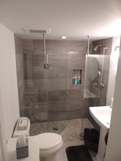 Sleek Grey Tones Bathroom Contemporary Bathroom