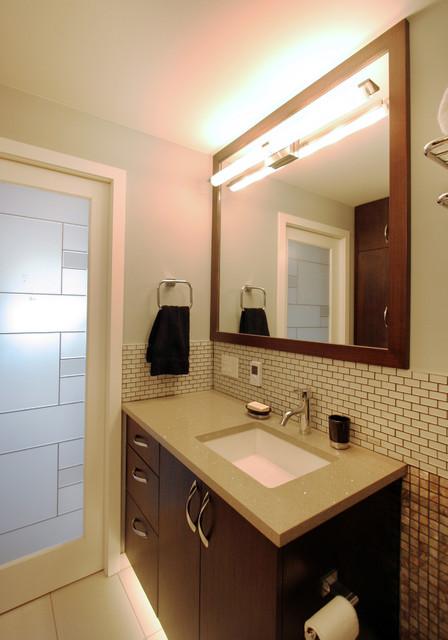 New East Side Condo Contemporary Bathroom Chicago By Habitar Design