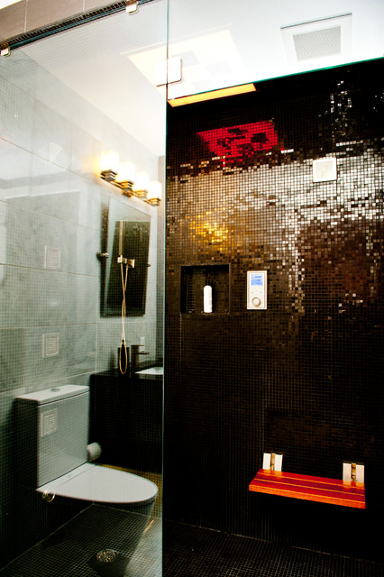 Sleek urban remodel pittsburgh contemporary bathroom for Bath remodel pittsburgh