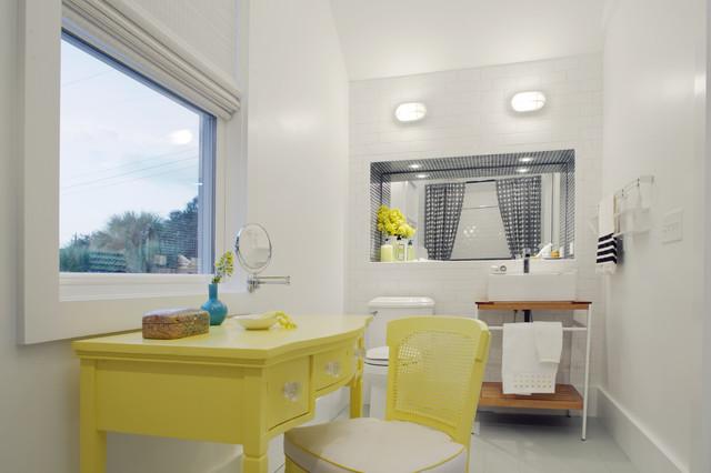 Sleeping Loft - Kid's Bathroom beach-style-bathroom