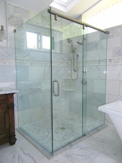 Traditional bathroom tampa by allservices frameless glass co