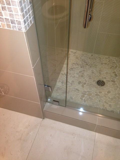 bathroom remodeling ideas for small bathrooms photos - Small 3 4 Bathroom Transitional Bathroom other metro