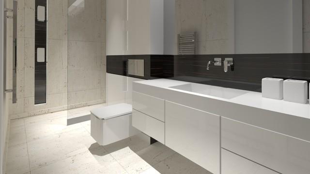 Small Apartment Interior Design Contemporary Bathroom