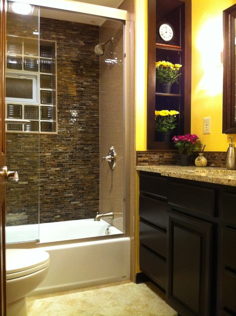 small bath big redo contemporary bathroom st louis ForRedoing Bathroom Ideas