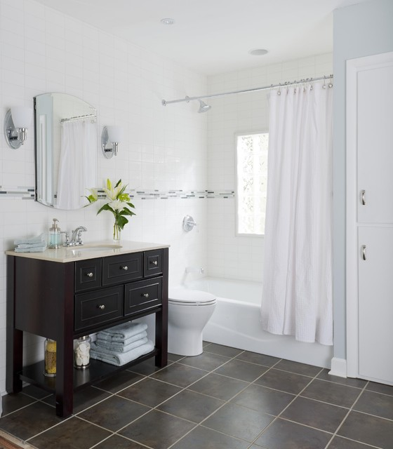 Small Bath, Big Style - Contemporary - Bathroom - by Lowe's Home ...