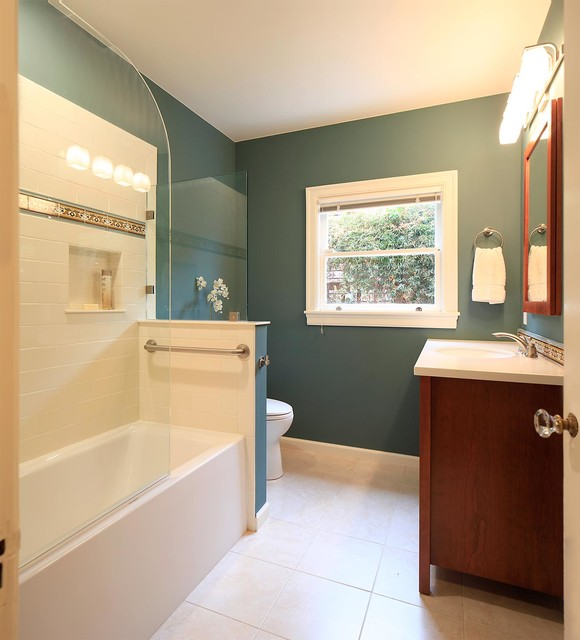 Small Bath Remodel At Oakland Mediterranean Bathroom San Francisco By Custom Kitchens By