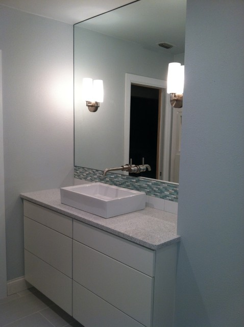 small bath remodle modern bathroom