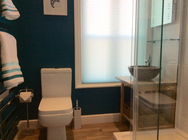 Small bathroom before after contemporary bathroom Redesigning small bathrooms