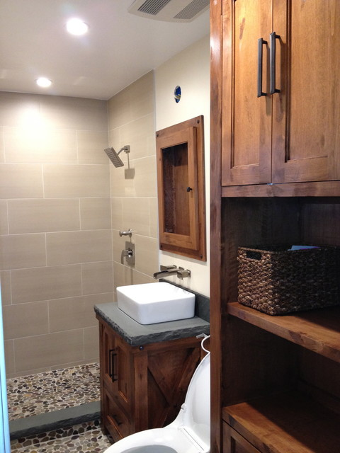 small bathroom custom remodel contemporary bathroom los angeles by sjs construction