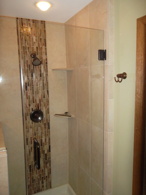 Small bathroom with shower off master bedroom modern for Small bathroom upgrades