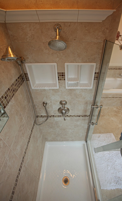 Small bathroom ideas traditional bathroom dc metro Small bathroom remodel tile
