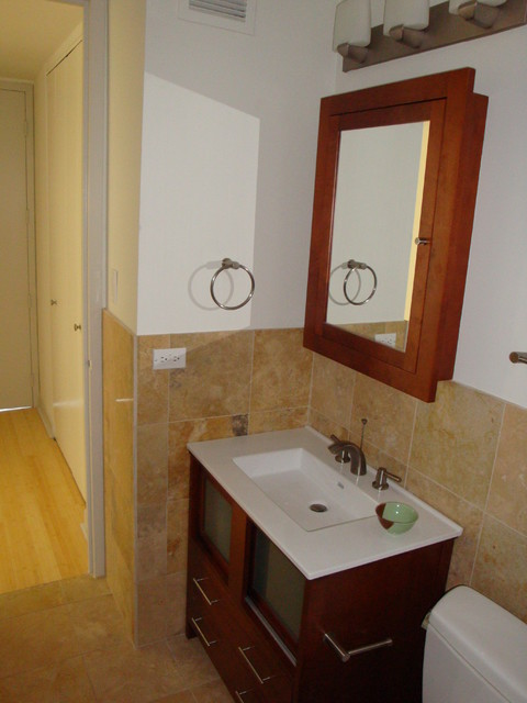 Small Bathroom In Lincoln Park Condo