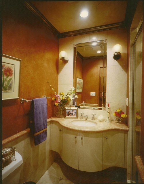 Small Bathroom In Manhattan Contemporary Bathroom New York By Regency