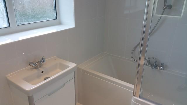 Small bathroom installation for Bathrooms b q installation