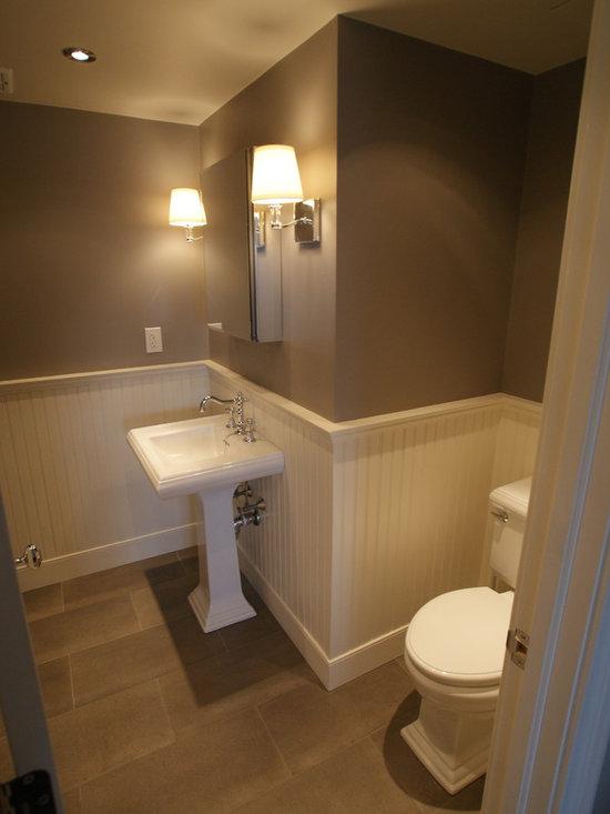 Contemporary half bath home design photos decor ideas for Bathroom decor houzz