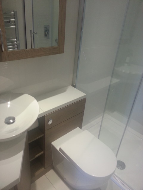 Small Bathroom Project Contemporary Bathroom London By Dovcor Bathrooms