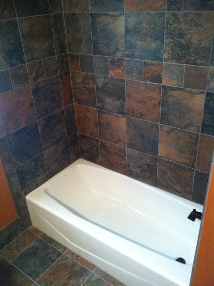 Example of a tuscan bathroom design in Richmond
