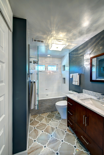 Small bathroom remodel in alexandria va contemporary dc metro by moss building and design Kitchen design in alexandria egypt