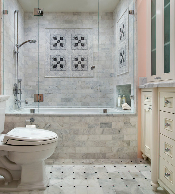 Small bathroom remodel traditional bathroom san for Classic bathroom ideas