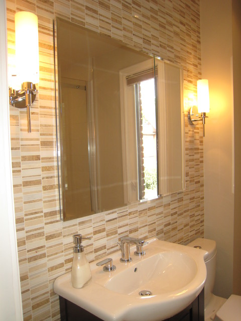 Small bathroom reno contemporary bathroom toronto for Small bathroom reno